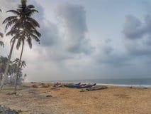 喀拉拉海滩 免版税库存照片