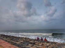 喀拉拉海滩 免版税图库摄影