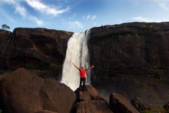 喀拉拉的瀑布 免版税库存图片