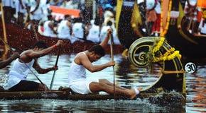 喀拉拉,印度的赛艇 库存照片