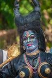 喀拉拉,印度- 1月, 17 :Pooram 1月的寺庙节日, 免版税库存图片