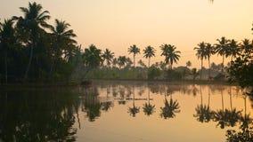 喀拉拉死水,印度 免版税图库摄影