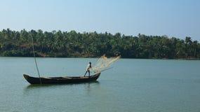 喀拉拉死水,印度 库存图片