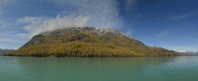 喀纳斯湖在新疆中国 免版税库存图片