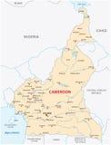喀麦隆传染媒介地图 库存照片