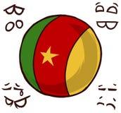 喀麦隆国家球 皇族释放例证