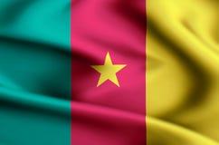 喀麦隆旗子例证 库存例证