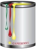 喀麦隆旗子的油漆 向量例证