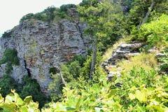 从喀麦隆虚张声势看见的峭壁俯视 免版税库存照片