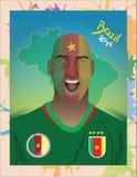 喀麦隆足球迷 库存照片