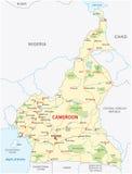 喀麦隆路线图 图库摄影