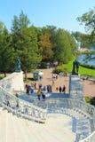 喀麦隆画廊的台阶 凯瑟琳公园, Tsarskoye Selo 免版税库存图片
