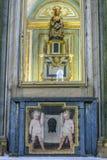 喂养圣洁孩子的Virgen de la安提瓜岛,建于 图库摄影