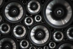 喂fi音频立体音响系统声音报告人背景 免版税库存照片