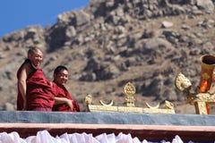 喇嘛和晴朗的修道院 免版税图库摄影