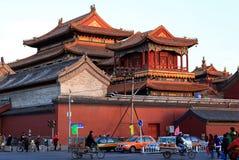 喇嘛寺庙在北京,中国。 图库摄影