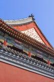 喇嘛寺庙的外部 前一个皇家宫殿,北京,中国 库存照片