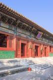 喇嘛寺庙的外部 前一个皇家宫殿,北京,中国 免版税库存图片