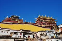 喇嘛寺院songzanlin 库存图片