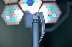 喉镜在医院手术室 图库摄影