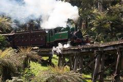 喘气的比利蒸汽火车 库存图片