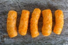 喘气的玉米快餐特写镜头  免版税图库摄影