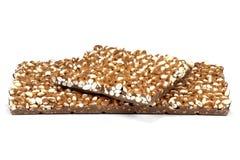 喘气的米巧克力 免版税库存照片