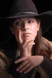 喜怒无常的女牛仔 免版税库存图片