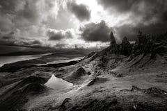喜怒无常的苏格兰天空 免版税图库摄影