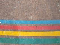 喜悦五颜六色的线  库存照片