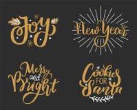 喜悦,新年,快活和明亮的曲奇饼圣诞老人的 皇族释放例证