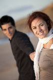 喜爱夫妇爱年轻人 库存照片
