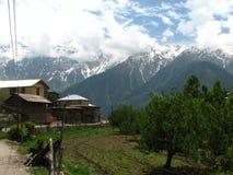 喜马偕尔邦的Kalpa镇在印度 免版税库存照片