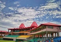 喜马偕尔邦蟋蟀协会体育场在Dharamshala 库存照片