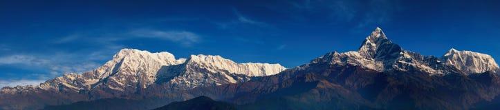 喜马拉雅全景 库存图片