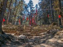 喜马拉雅小的寺庙 库存图片