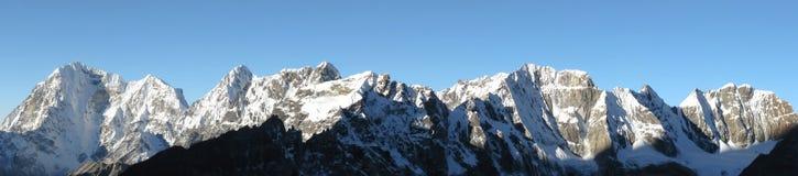 喜马拉雅山全景 免版税库存照片