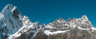 喜马拉雅山全景 库存照片