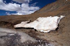 喜马拉雅山冰熔化 免版税库存图片