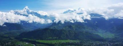 喜马拉雅山博克拉风景 库存照片