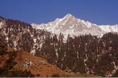 喜马拉雅山印度kangra途径迁徙的triund 库存照片