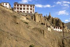 喜马拉雅山印第安ladakh lamayuru修道院 免版税库存图片