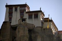 喜马拉雅山印第安ladakh lamayuru修道院 免版税库存照片