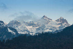 喜马拉雅山山在锡金,印度 免版税库存照片
