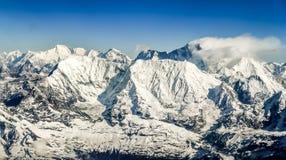 喜马拉雅山山珠穆琅玛范围全景 库存照片