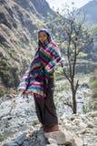 喜马拉雅山山的西藏妇女 库存照片