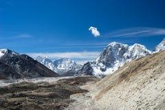 喜马拉雅山山风景对珠穆琅玛基地加州 图库摄影