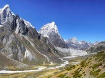喜马拉雅山山风景 免版税库存照片