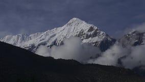 喜马拉雅山山,尼泊尔 安纳布尔纳峰峰顶  Timelapse 股票视频