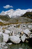 喜马拉雅山山 库存图片